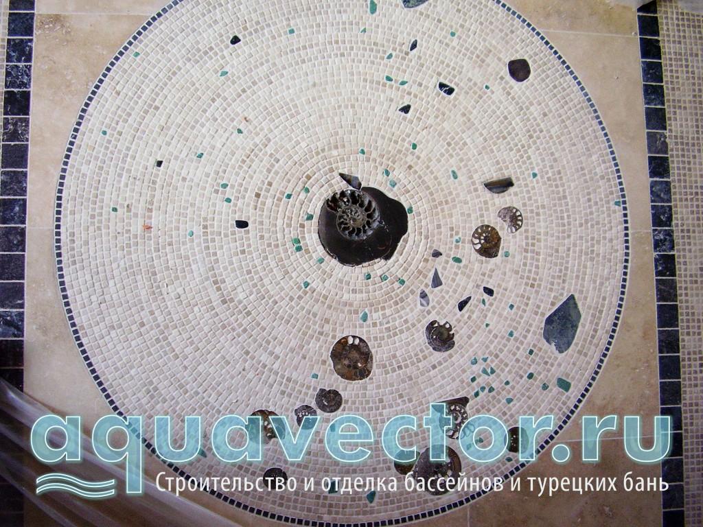 Мозаичный «ковер» из натурального камня