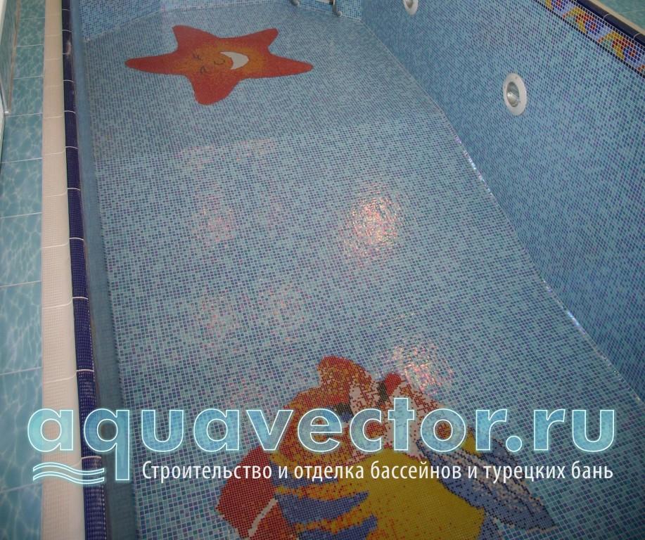 Общий вид бассейна с панно