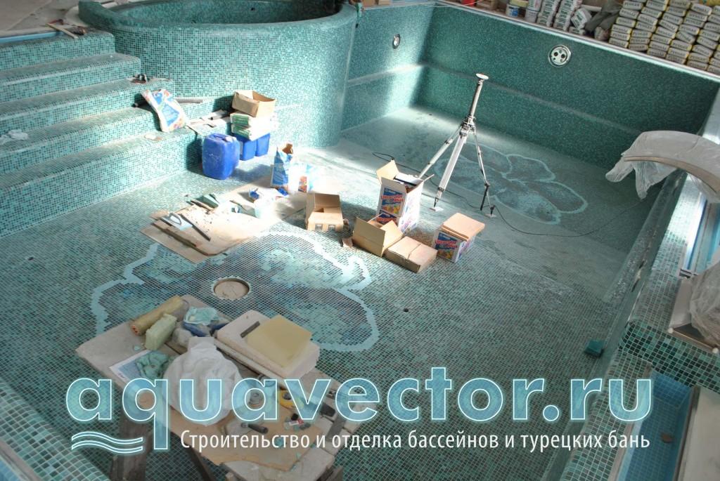 Общий вид переливного бассейна