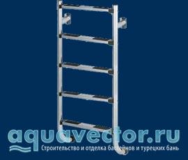 Лестницы укороченные (крепятся фланцами к стене) c противоскользящими ступенями по международным стандартам