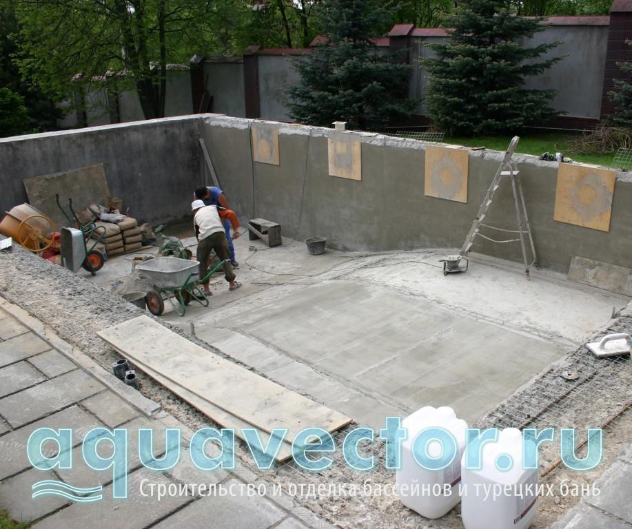 Выравнивание бетонной чаши