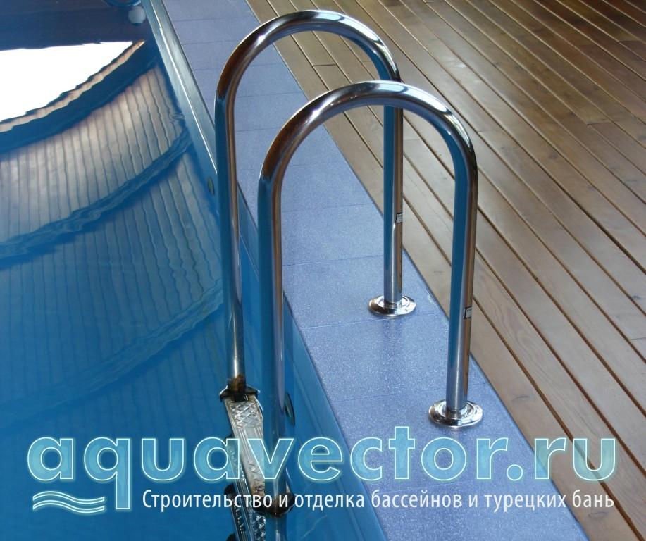 Установка лестниц на узкий борт бассейна