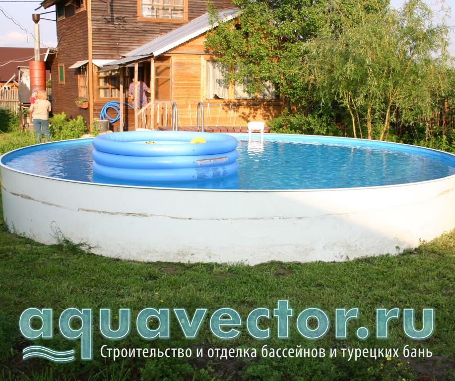 Сборный бассейн устанавливается легко и быстро