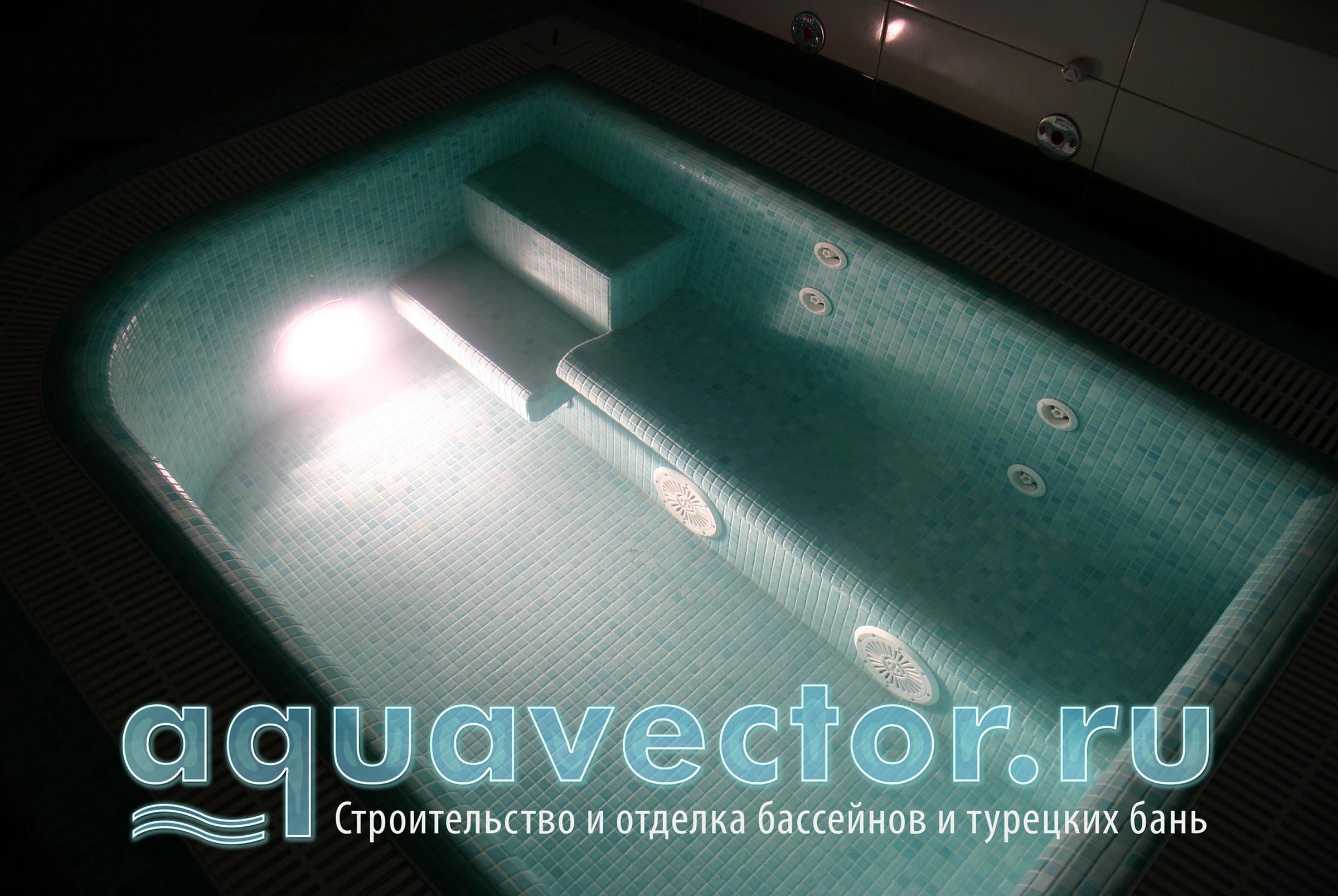 Гидромассажный диван в купели