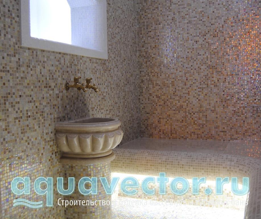 Расположение курны в турецкой бане в квартире