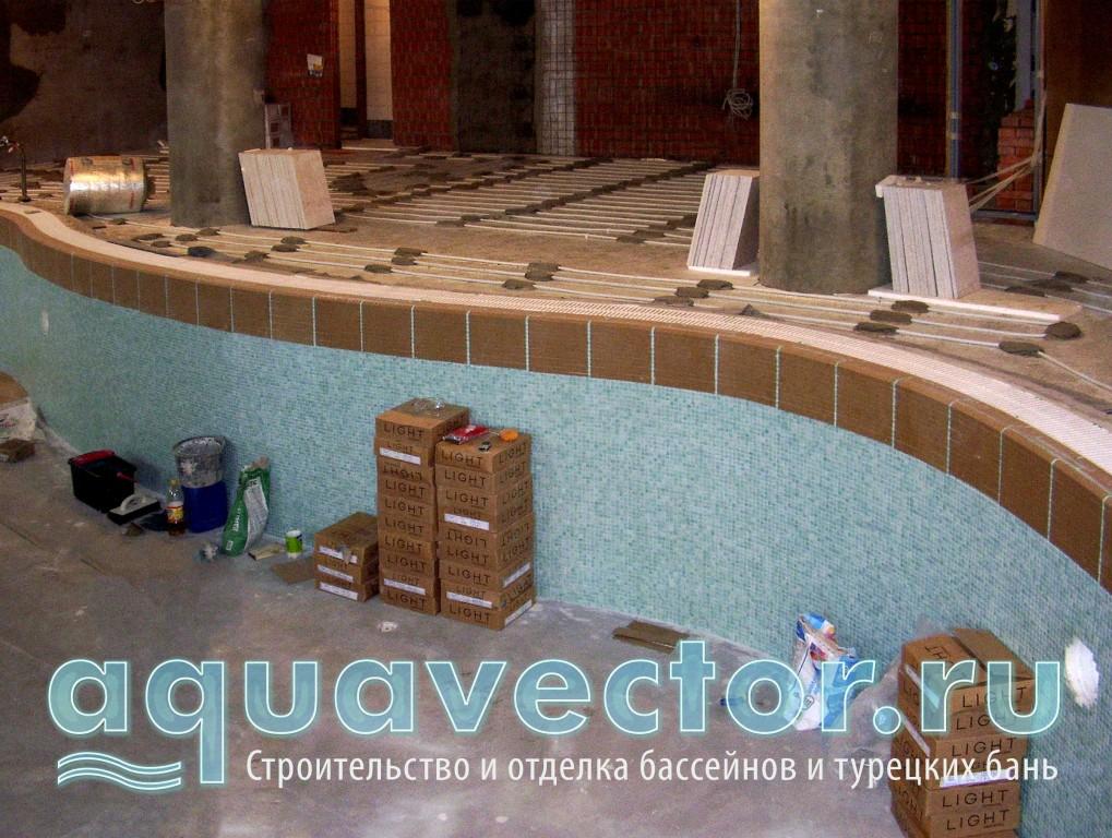 Отделка стен чаши бассейна после гидроизоляции