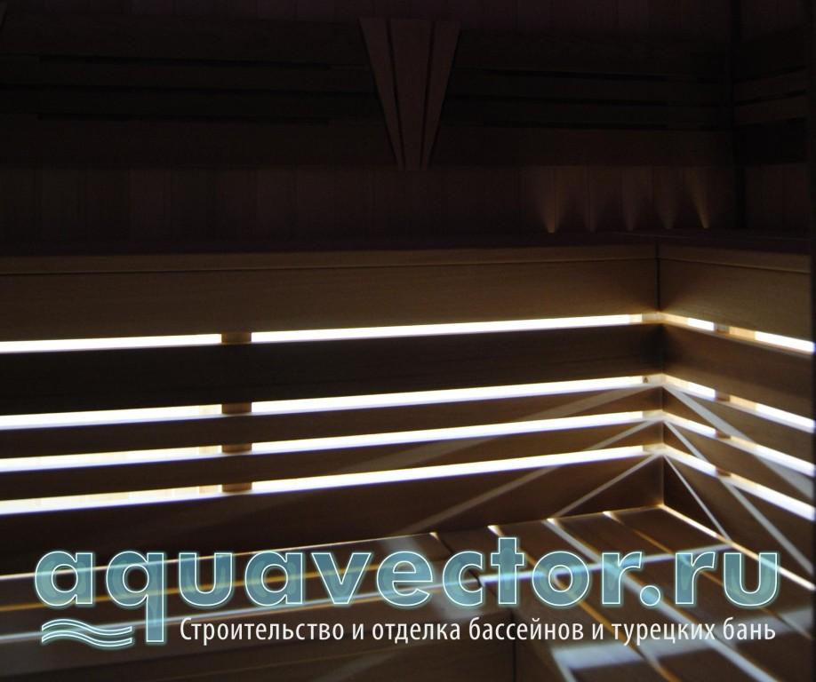 Внутренняя подсветка в сауне
