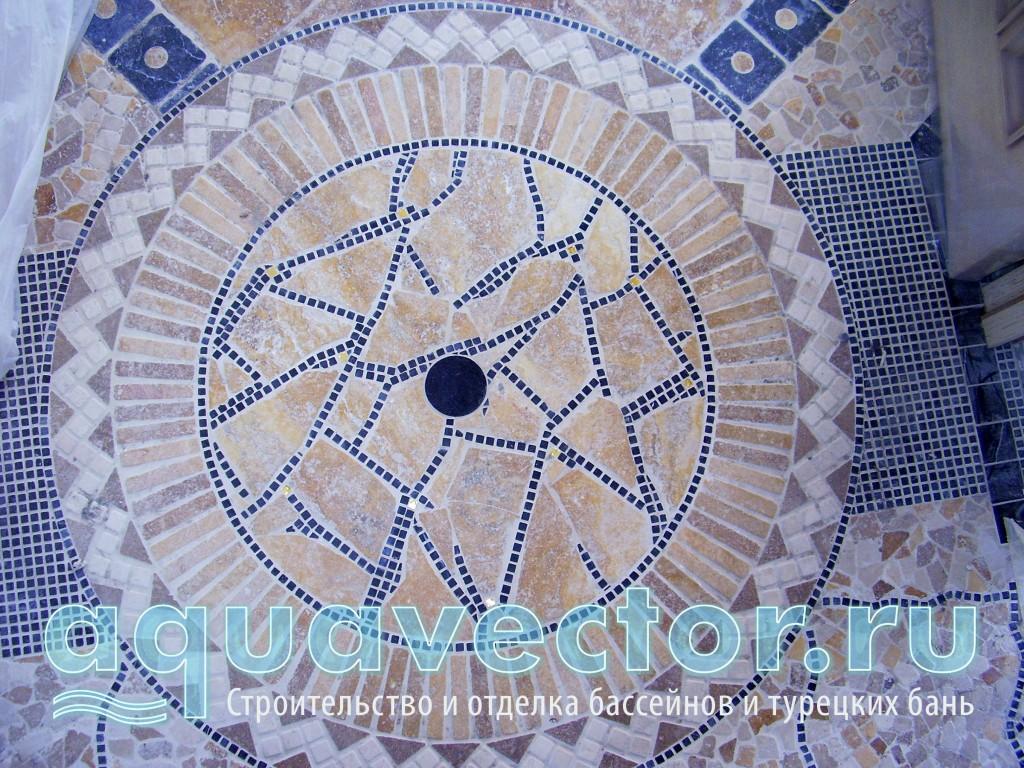 Декоративный «коврик» из мозаики из натурального камня