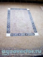 Мозаичный «ковер» в чайной