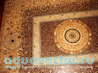 Декоративный мозаичный пол ручной работы
