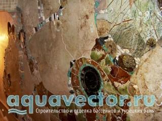 Отделка стены камнем. Гидрорез с декоративными элементами
