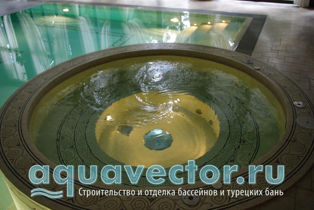 Вода в купели очищается отдельным фильтром