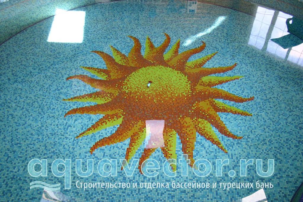 Панно Солнце на дне бассейна