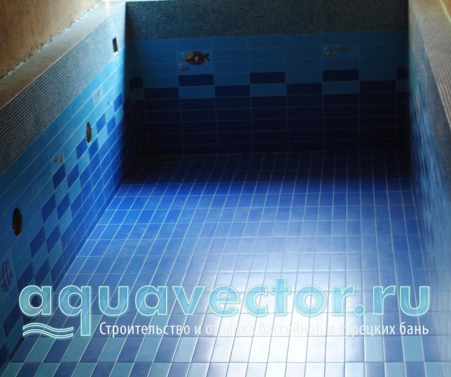 Плиточное панно в бассейне