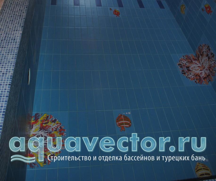Элементы панно на дне бассейна