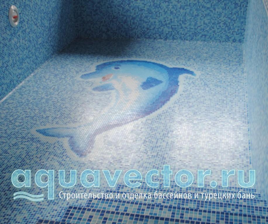 Панно Дельфин в бассейне