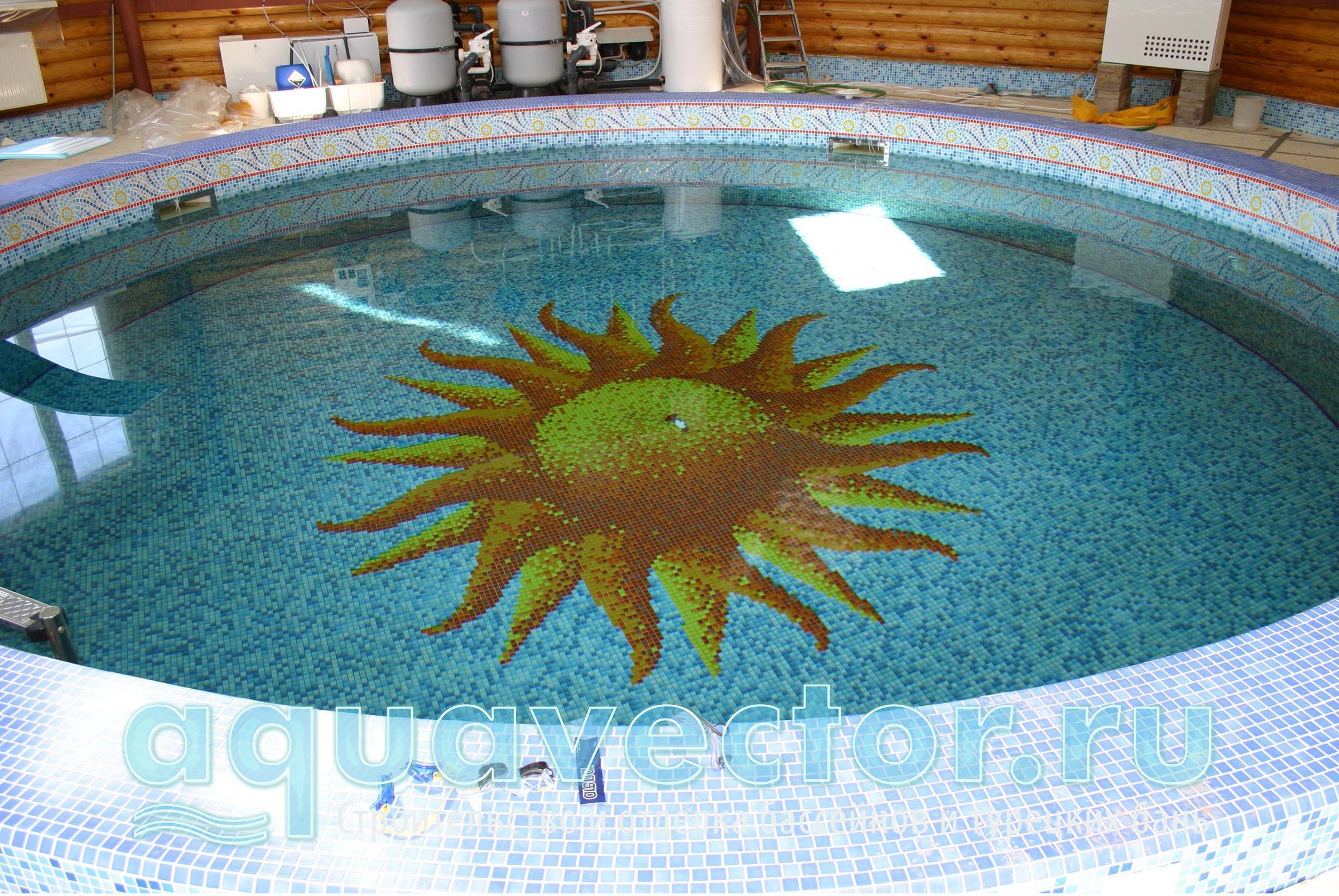 Круглый скиммерный бассейн