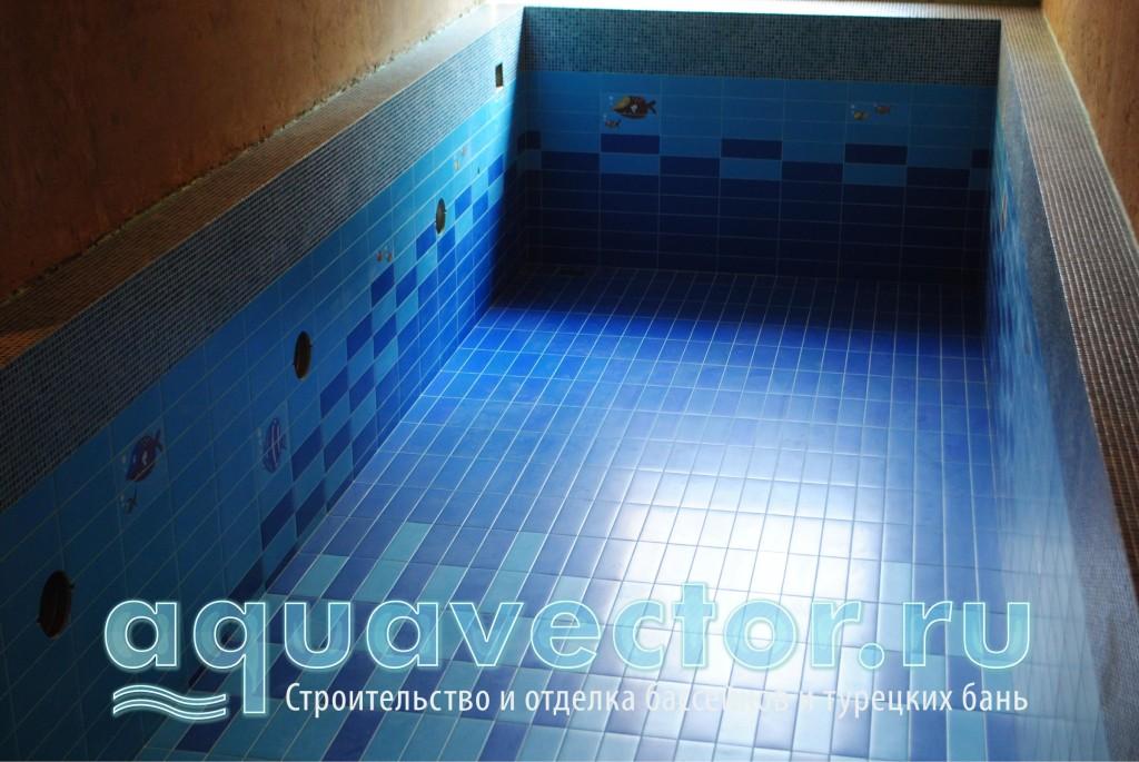Плиточный скиммерный бассейн