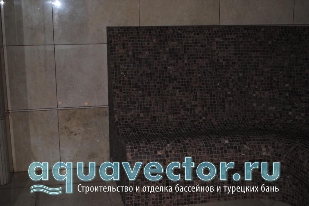 Тёплый пол в диване хамама