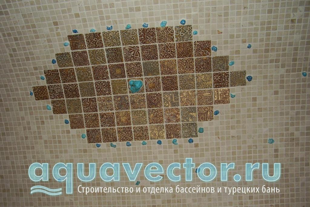 Потолок из камня в турецкой бане
