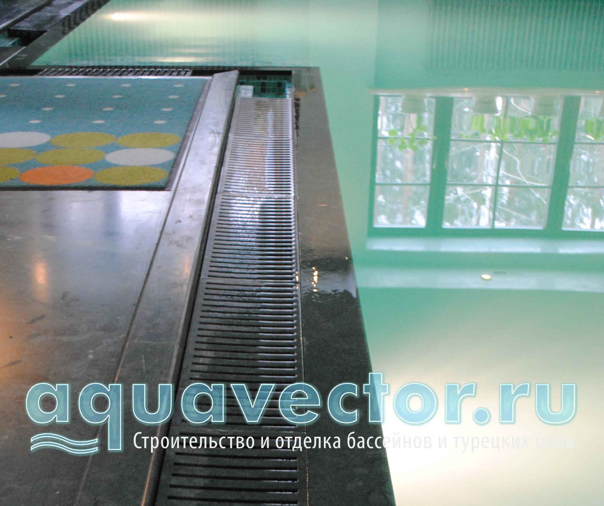 Реставрация переливного борта в бассейне