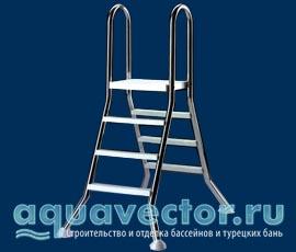 Лестницы для бассейнов установленные на поверхности