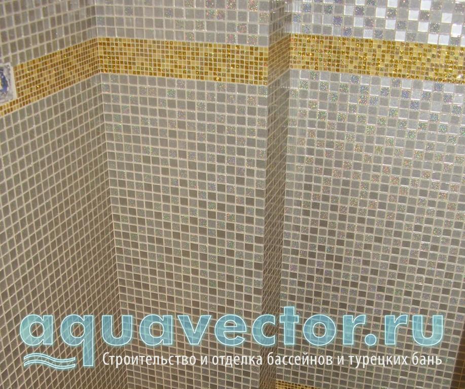 Декоративный пояс из мозаики под золото