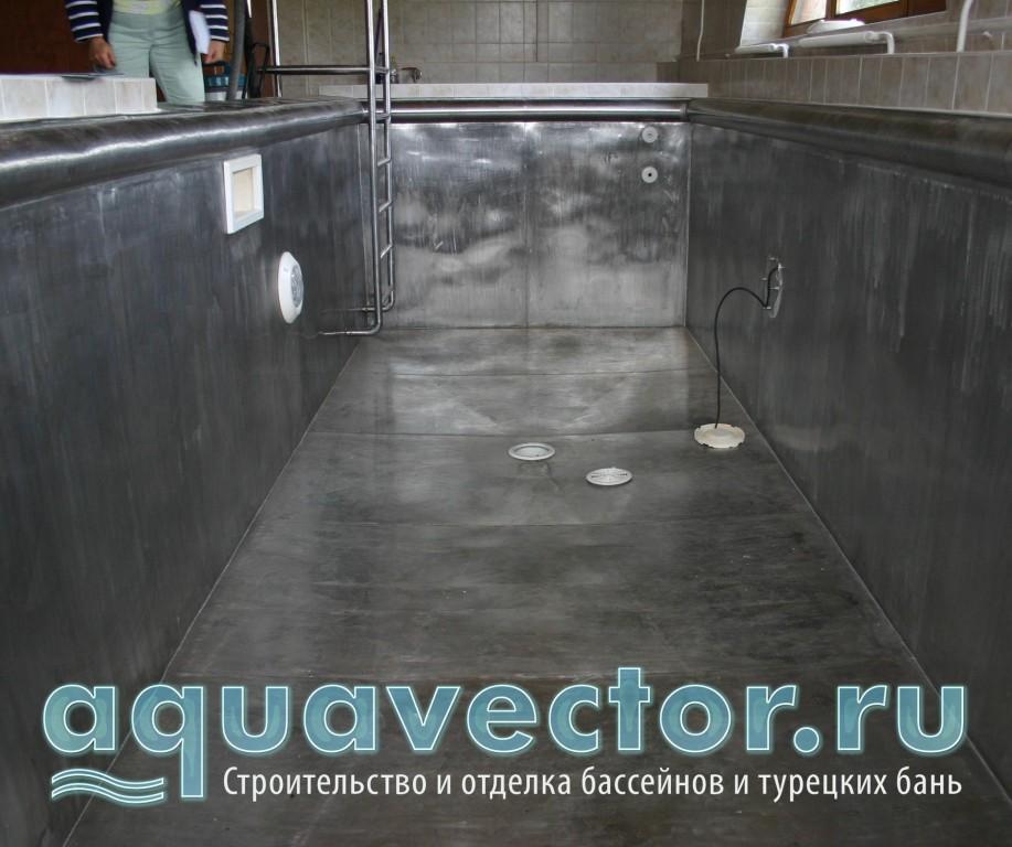 Замена закладных элементов в бассейне