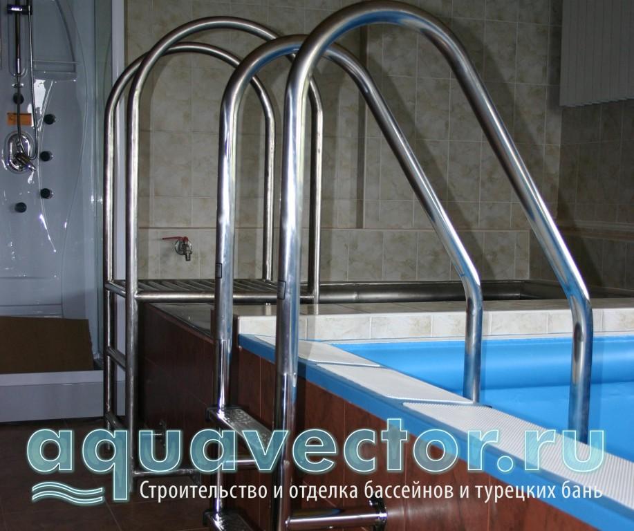 Установка лестницы в бассейне