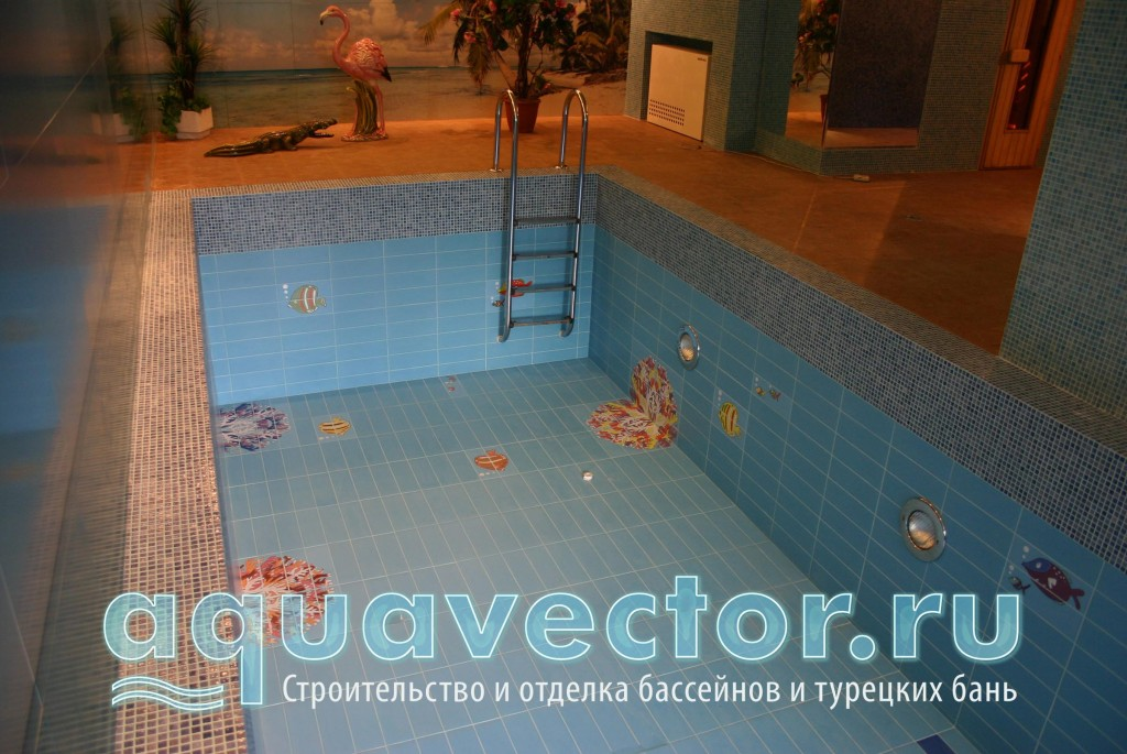 Плиточные панно в бассейне