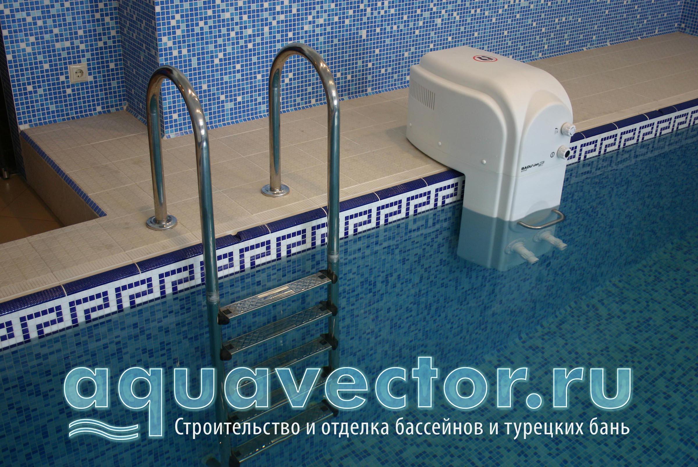 Нависной противоток- решение готового бассейна