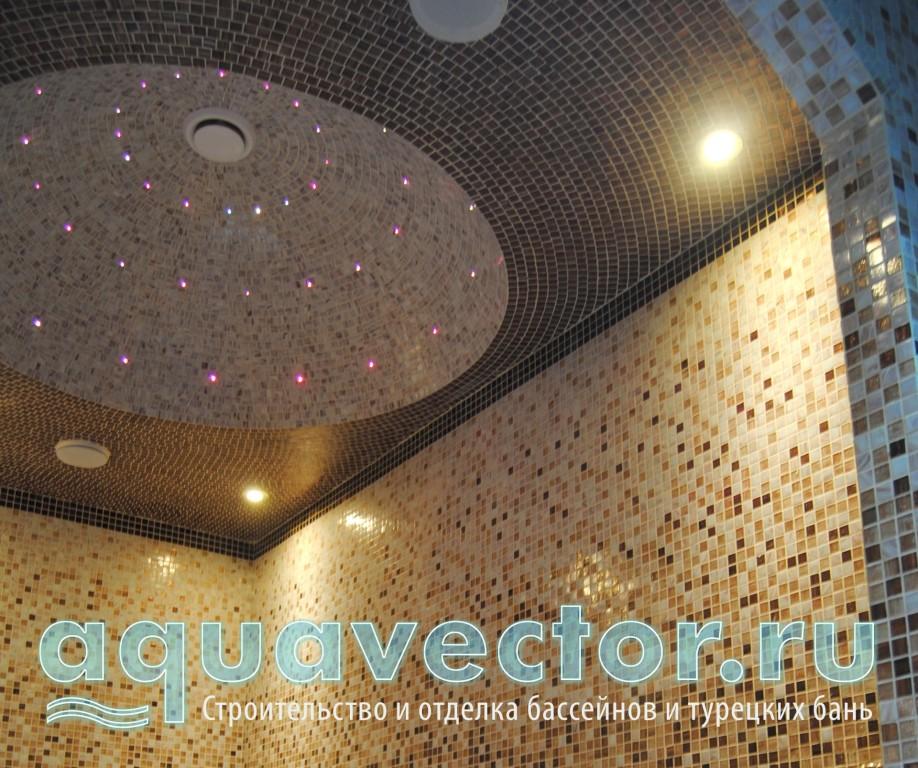 Купольный потолок и звездное небо в хамаме