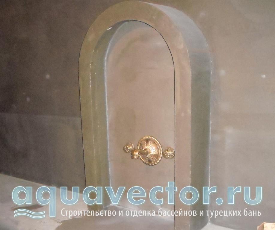 Подготовка конструкции в турецкой бане под отделку