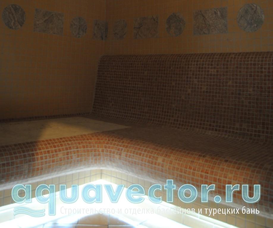 Турецкая баня в квартире с подсветкой