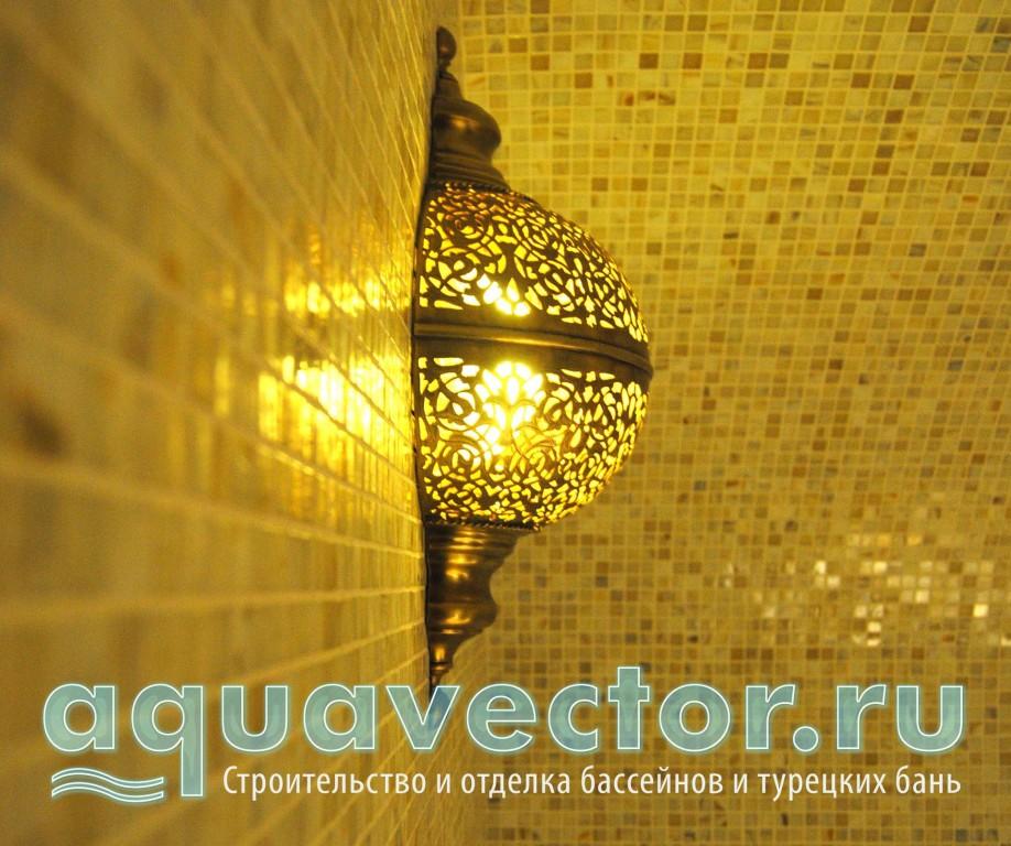Марокканский светильник в турецкой бане