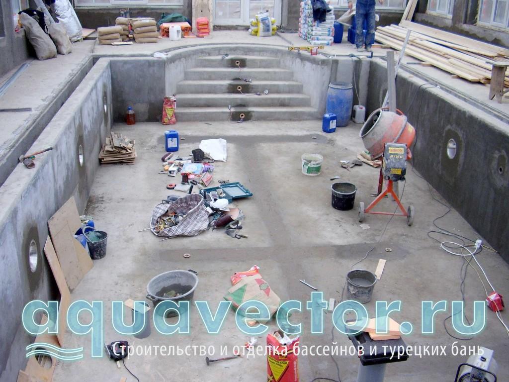 Основательная подготовка под гидроизоляцию бассейна