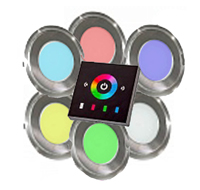 Система цветного освещения RGB светильники - 6 шт