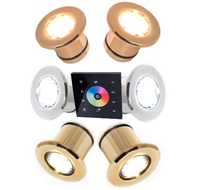Система цветного освещения прямой выбор белого цвета RGB