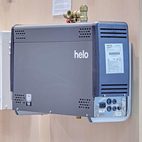 Парогенераторы Helo Steam Pro Финляндия в интерьере