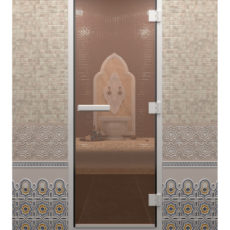 Двери Doorwood бронзовые прозрачные
