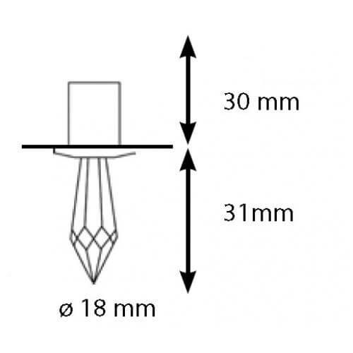 Набор хрустальных насадок CR-31 Kit Swarovski Strass чертеж