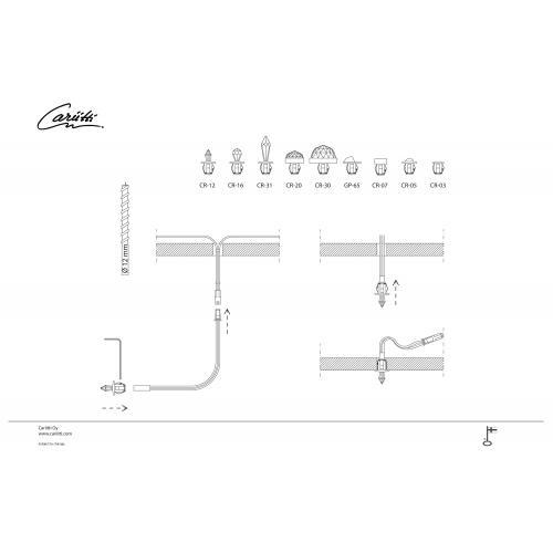 Набор CR-12 Kit хрустальных насадок Swarovski Strass схема