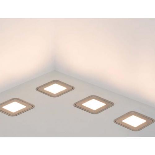 Плоские светодиодные светильники из нержавейки в интерьере